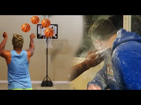 INDOOR BASKETBALL SLAP IN THE FACE WITH FLOUR CHALLENGE! W/ JesserTheLazer Lsk,TTG LOS (видео)