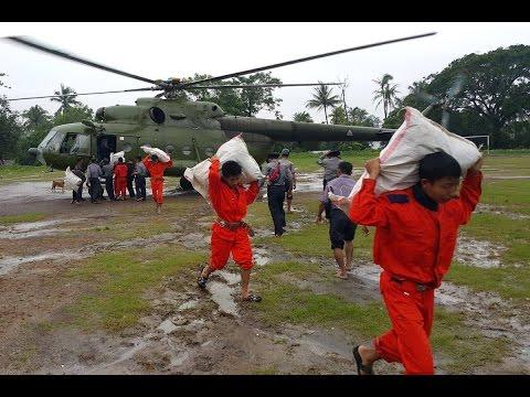 VIDEO: Help arrives in Burma's disaster zones