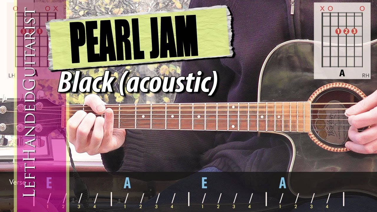 Pearl Jam – Black | simple acoustic guitar lesson