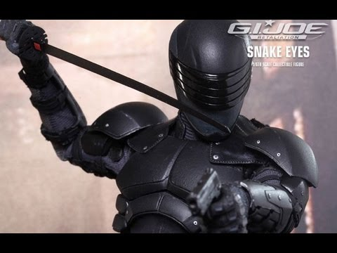G.I. Joe Retaliation Hot Toys Snake Eyes Movie Masterpiece 1/6 Scale Collectible Figure Review