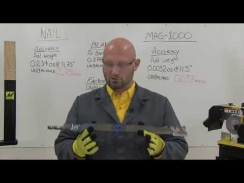 MAG-1000 Lawnmower Blade Balancer VS. the Nail (видео)