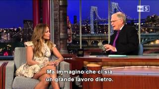 Jennifer Lopez @ David Letterman Show 8/11/12 SUB ITA