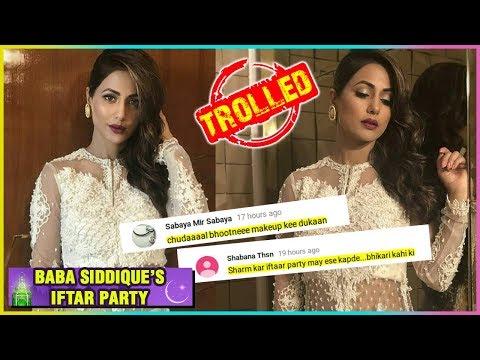 Hina Khan TROLLED For EXPOSING Clothes At Baba Sid