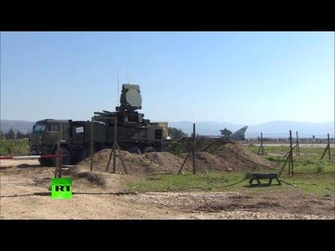 Опубликовано видео боевого дежурства российских С-400 и ЗРПК «Панцирь-С2» в Сирии
