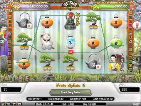 Geisha Wonders Progressive Slot - Scatter Free Spin