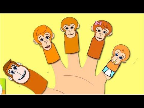 The Finger Family (Monkey's Family) Nursery Rhyme   Kids Animation Songs For Children