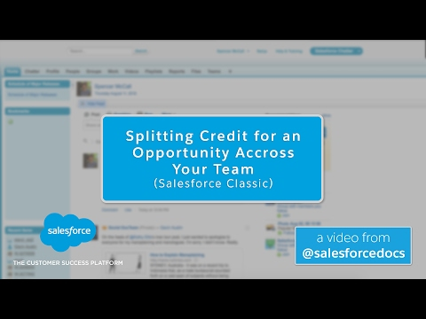 Splitting Credit for an Opportunity Across Your Team