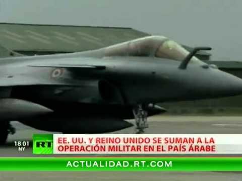 Arranca invasión a libia, aviones caza, submarinos,misiles tomahawk, coordinados por satélites.
