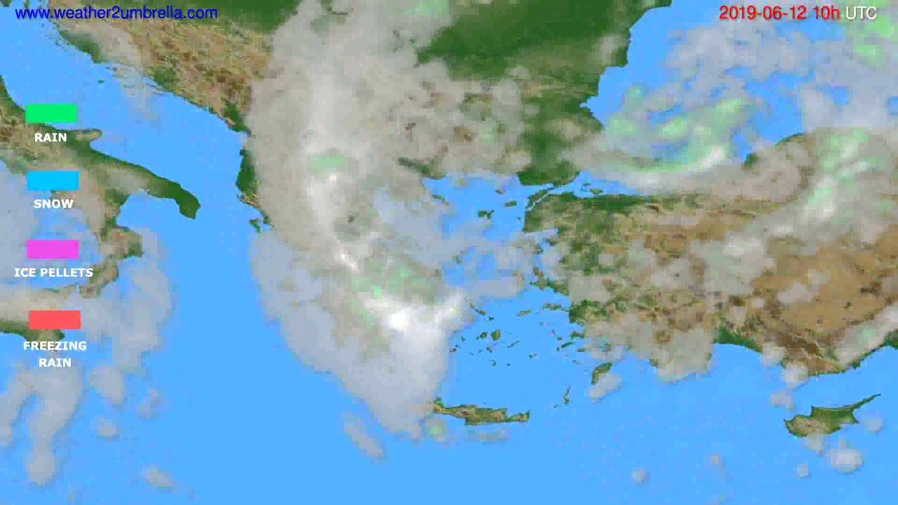 Precipitation forecast Greece // modelrun: 12h UTC 2019-06-09