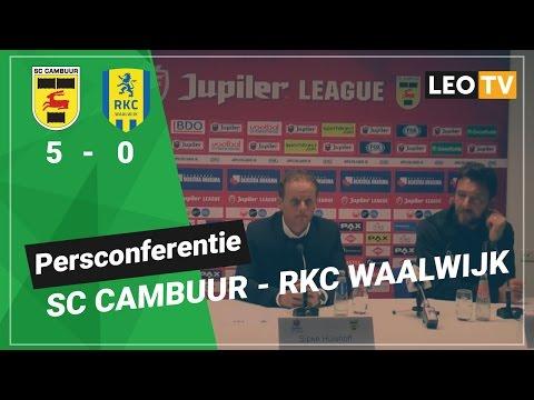 Persconferentie SC Cambuur - RKC Waalwijk