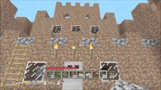 Minecraft Lets Build!: How To Build A Mud Castle (Part 3)