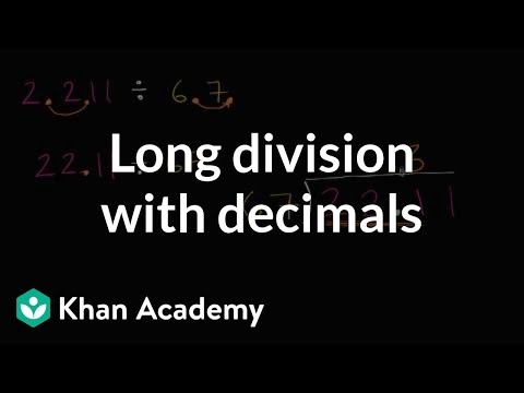 Long Division With Decimals Video Khan Academy
