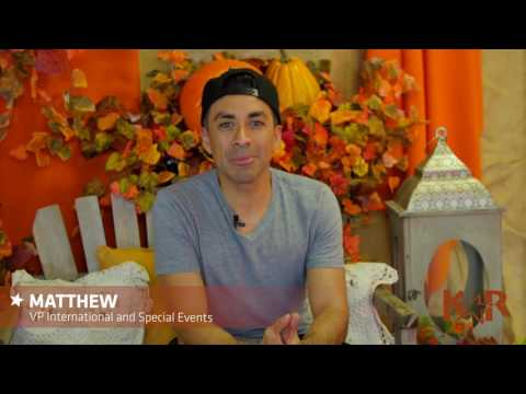 Thanksgiving Message from Matthew, VP of International & Special Events
