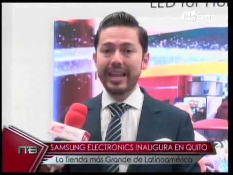 Samsung Electronics inaugura en Quito la tienda más grande de Latinoamérica