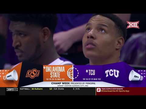TCU vs Oklahoma State Men's Basketball Highlights