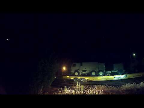 Pan Am MEC Locomotives #7635 #7552 Pulling the NHNG Military Train Dash Cam View