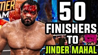 The Current WWE Champion Jinder Mahal get 50 finishers by WWE 2K17 roster.Subscribe to Bestintheworld https://goo.gl/bh0dMlFollow me on Twitter https://goo.gl/g2hpKr