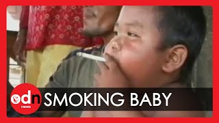 Indonesian Baby On 40 Cigarettes A Day :|