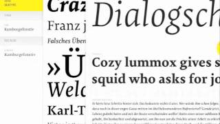 FontBook app presents OurType Tiina