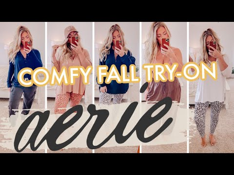 The Most COMFY AERIE Fall Try-On You'll EVER Watch!