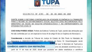 Tupã: comércio reabre com restrições