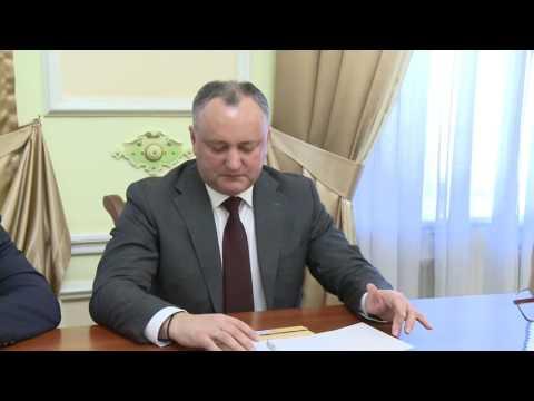 President Igor Dodon today met Russian Ambassador to Moldova Farit Mukhametshin