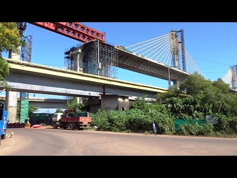 New Mandovi Bridge 13.9.18 - A Complete Tour