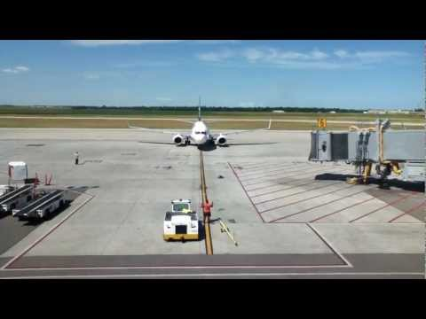 Tour of Winnipeg Richardson Airport(YWG) and takeoff on WestJet 737