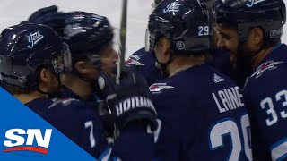 Patrik Laine Squeaks Puck By Cam Talbot After Oilers Give Him Too Much Room by Sportsnet Canada