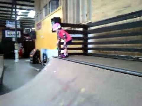 Brianna Drake 1st time at skate park with brother's