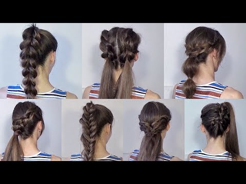 Лёгкая причёска на каждый день в школу на средние волосы