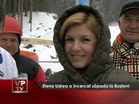 Elena Udrea a încercat zăpada la Buşteni