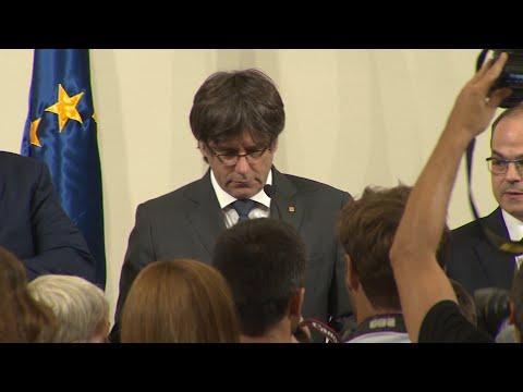 Katalonien macht sich bald selbstständig: Puigdemont sprach