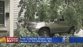 The violent weather has already created a big mess in the Garden State. CBS2's Jessica Layton has more.
