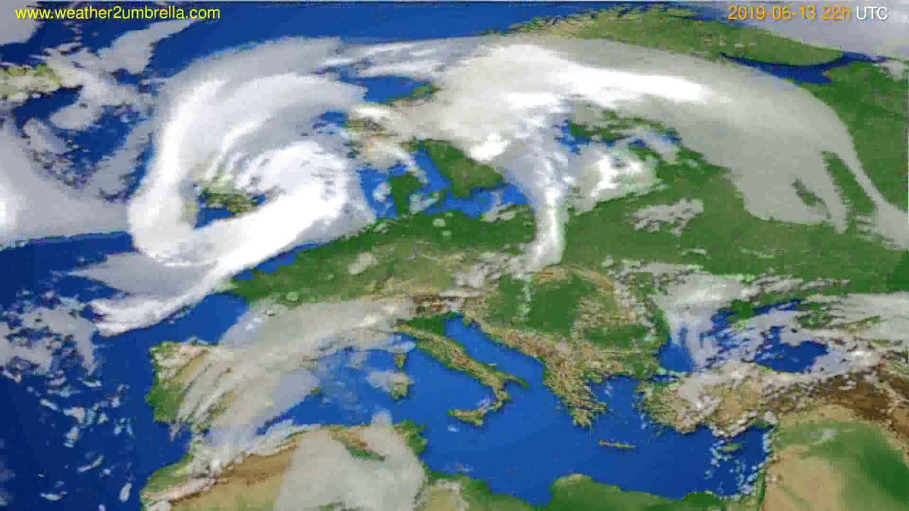 Cloud forecast Europe // modelrun: 00h UTC 2019-06-11