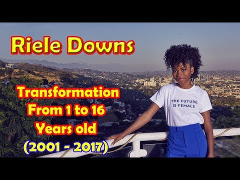 Riele Downs transformation from 1 to 16 years old