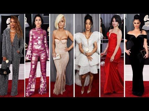 Grammy Awards 2018 | Red Carpet | Full Video | Celebrity Dresses