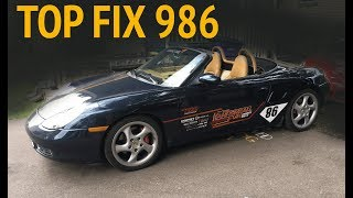 Fix your broken twisted boxster convertible top 2000 Porsche boxster S drive cable issue