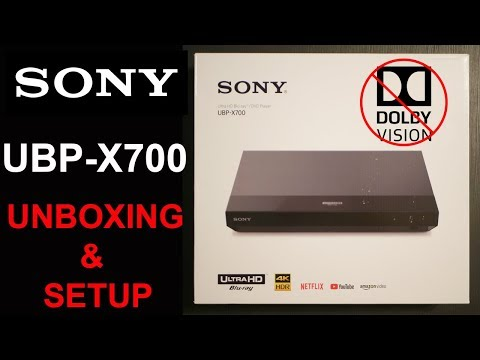 Sony UBP-X700 4K Bluray Player Review| Unboxing And Setup Overview | Apps Tested