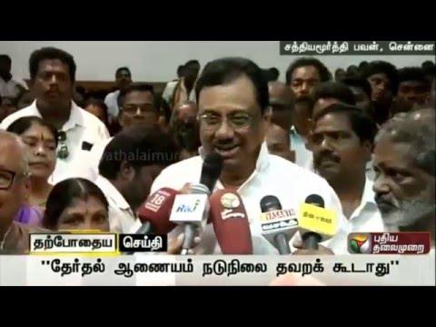 TNCC-president-EVKS-Elangovan-addressing-reporters-at-Sathyamurthy-Bhavan-Chennai