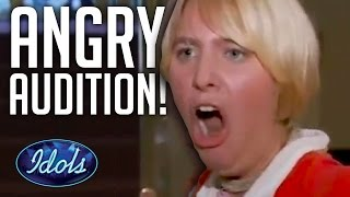 Video WORST & ANGRIEST AUDITION EVER On American Idol | Idols Global MP3, 3GP, MP4, WEBM, AVI, FLV Maret 2018