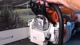 6. The chainsaw guy shop talk Stihl MS 291 chainsaw test muffler