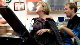 Woman Screaming While Getting A Tattoo