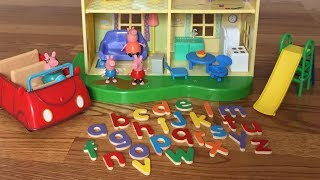 PEPPA PIG Learning ABC Letter Alphabets on PEPPA PIG HOUSE