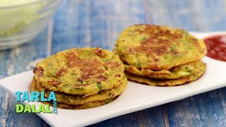 Cabbage Pancakes,Recipe Link : https://www.tarladalal.com/Cabbage-Pancakes-Mini-Cabbage-Pancakes-Quick-Pancakes-1712r Subscribe : http://goo.gl/omhUioTarla Dalal App: http://www.tarladalal.com/free-recipe-app.aspxFacebook: http://www.facebook.com/pages/TarlaDalal/207464147348YouTube Channel: http://www.youtube.com/user/TarlaDalalsKitchen/featuredPinterest: http://www.pinterest.com/tarladalal/Google Plus:  https://plus.google.com/107883620848727803776Twitter: https://twitter.com/Tarla_DalalCabbage Pancakes, Mini Cabbage Pancakes, Quick PancakesAn enhanced version of chila, cabbage mini pancake is delicious and wholesome. What is more, it can also be prepared in a jiffy, making it a great start to a busy day. Serve hot and fresh with chutney or ketchup.Preparation Time: 15 minutes.Cooking Time: 15 minutes.Makes 14 mini pancakes. 1 cup grated cabbage½ cup besan (Bengal gram flour)¼ cup finely chopped onions1 tsp finely chopped green chillies½ tsp turmeric powder (haldi)½ tsp cumin seeds (jeera) powder½ tsp ginger (adrak) paste2 tbsp finely chopped coriander (dhania)Salt to tasteOther ingredientsOil for greasing and cooking1. Combine all the ingredients in a deep bowl along with approx. ½ cup water and mix well.2. Grease a non-stick mini uttapa pan with a little oil.3. Pour a little batter in each uttapa mould and spread it lightly.4. Cook on a medium flame, using a little oil till they turn golden brown in colour from both the sides.5. Repeat steps 2 to 4 to make more mini pancakes.6. Serve Immediately.