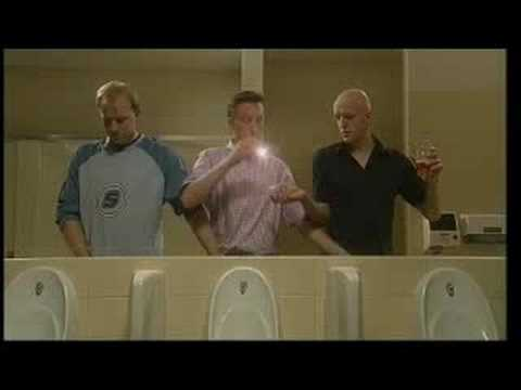 3 man together on the toilet. Banned Commercial!!