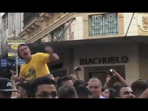 Apuñalan a Jair Bolsonaro, candidato presidencial de Brasil