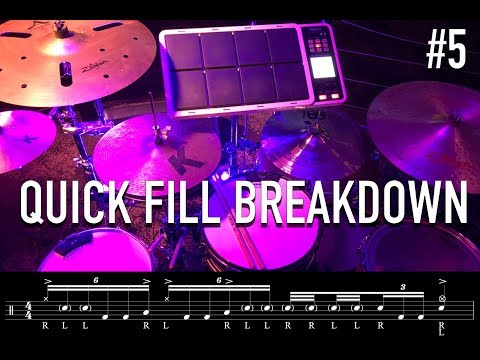 Quick Drum Fill Breakdown #5 - Lose My Breath Sextuplet Fill