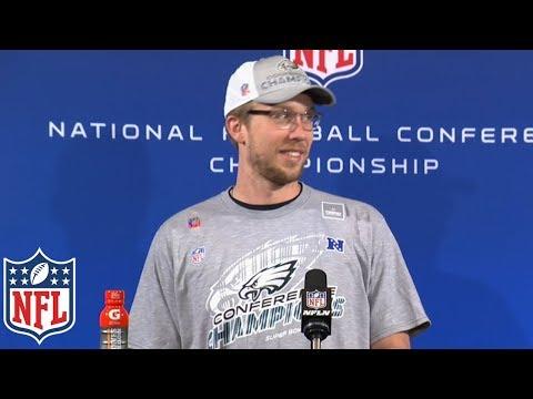 Video: Nick Foles' NFC Championship Postgame Presser,