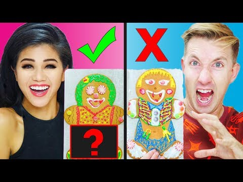 GINGERBREAD HOUSE MAN CHALLENGE HUSBAND VS WIFE!